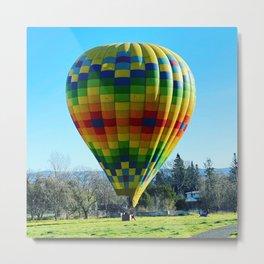 Napa Hot Air Balloon Landing  Metal Print