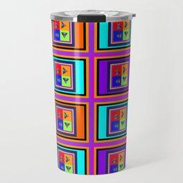 Abstract Pyramids Travel Mug