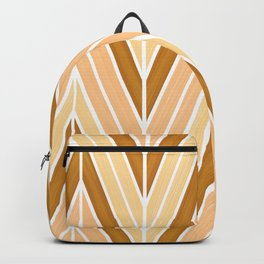 yellow chevron pattern Backpack