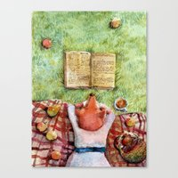 reading Canvas Prints featuring Reading by msbordrog