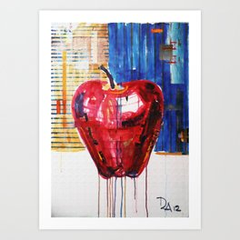 industrial apple Art Print