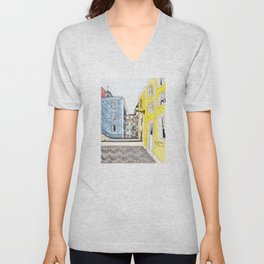 Beautiful Lisbon by Charlotte Vallance Unisex V-Neck