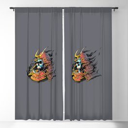 Samurai Skull Blackout Curtain