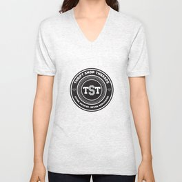Thrift Shop Threads Button_College Unisex V-Neck