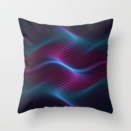 Wavy One Throw Pillow