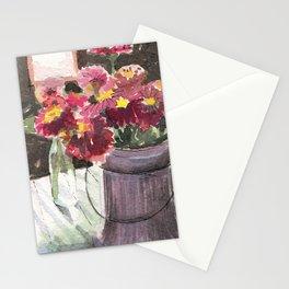 zinnias at sunset Stationery Cards