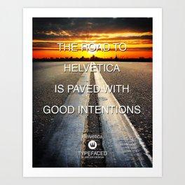 Typefaced — Helvetica Art Print