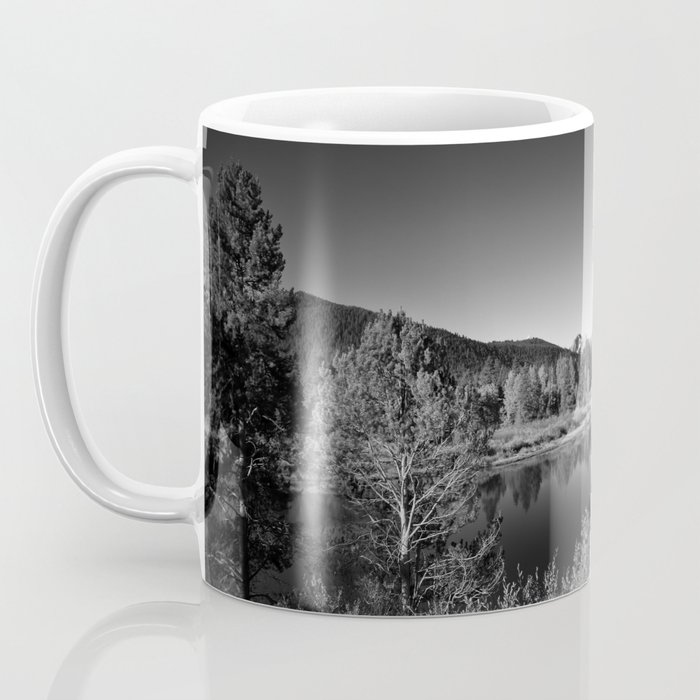 Snake River toward Mount Moran Coffee Mug