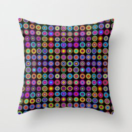 Multicoloured zonky dots Throw Pillow