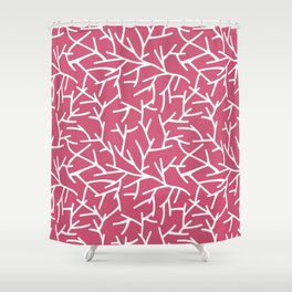 Branches - pink Shower Curtain