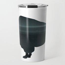 Buffalo print, Black & White Travel Mug