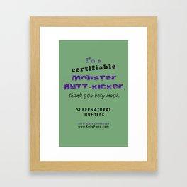 Monster Butt-Kicker Framed Art Print