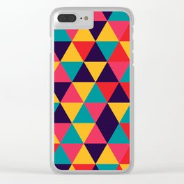 Colorful Triangles (Bright Colors) Clear iPhone Case