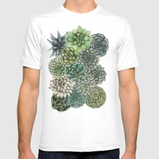 An Assortment of Succulents White Mens Fitted Tee X-LARGE