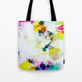 Abstract Paint Splatter Art Tote Bag