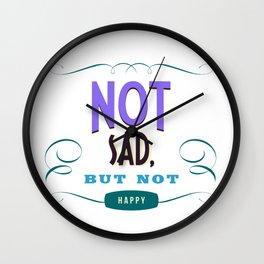 Not sad, but not happy Wall Clock
