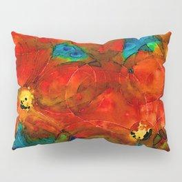 Garden Spirits - Vibrant Red Poppies Flowers By Sharon Cummings Pillow Sham