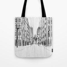 Fog and Rain: Cityscape (WHITEOUT) Tote Bag