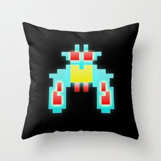 Galaga Exterminator Throw Pillow