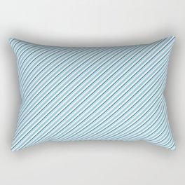 Sky Blue Strong Inclined Stripes Rectangular Pillow