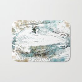 Watercolor Horse Bath Mat