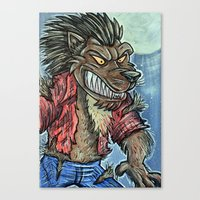 werewolf Canvas Prints featuring Werewolf by MSG Imaging