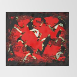 Scooter Mania - Stunt Scooter Fun Throw Blanket