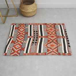 Ait Ouaouzguite South Morocco North African Rug Print Rug