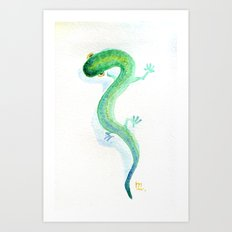 Lizzy The Lizard Art Print
