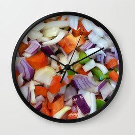 Onions and Bell Peppers Wall Clock