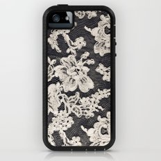 black and white lace- Photograph of vintage lace iPhone (5, 5s) Adventure Case