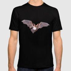 Geometric Bat MEDIUM Black Mens Fitted Tee