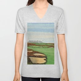 Shinnecock Hills Golf Course With Clubhouse Unisex V-Neck