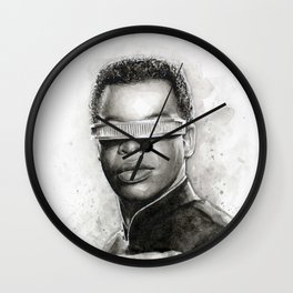 Geordi La Forge Star Trek Art Wall Clock