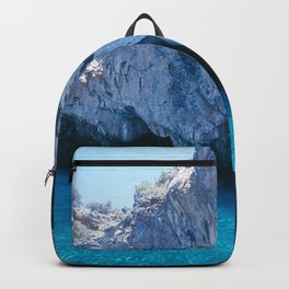 NATURE'S WONDER #5 - BLUE GROTTO (Turkey) #2 #art #society6 Backpack