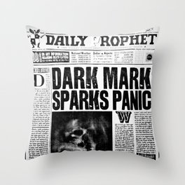 Daily Prophet newspaper Throw Pillow