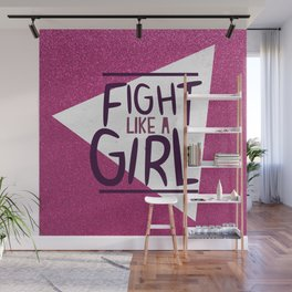 FIGHT LIKE A GIRL KIDDOS Wall Mural
