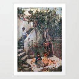 John William Waterhouse - The orange gatherers Art Print