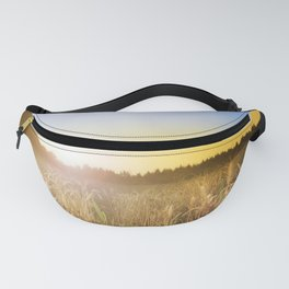 Sunset over Cornfield Fanny Pack