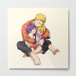 Naruto Boruto Himawari Metal Print