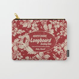 Club Surfing Longboard Surf Logo and Hibiscus Hawaiian Print      Carry-All Pouch