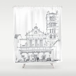 Basilica di Santa Cecilia in Trastevere Shower Curtain