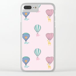 Sweet balloon dreams - pink Clear iPhone Case