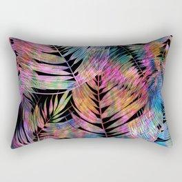 Waikiki Tropic {Black} Rectangular Pillow