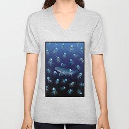 Jellyfish Pattern Unisex V-Neck