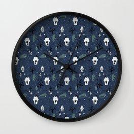 Tombstone - Blue Wall Clock