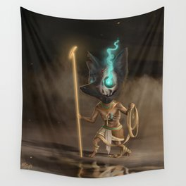 Anubis, old God of mummification and the afterlife Wall Tapestry