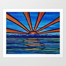 Champlain Sunset Art Print