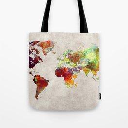 World Map 62 Tote Bag