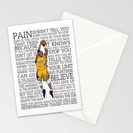 """Black Maamba"" Basketball Typography Stationery Cards"